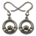 Claddagh Earrings in Sterling Silver