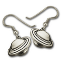 Silver Planet Saturn Earrings