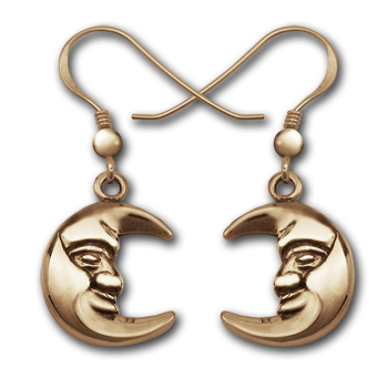 Moon Earrings in 14K Gold