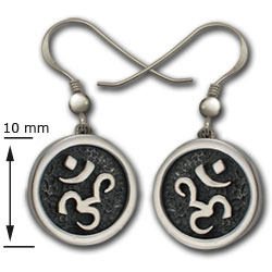 Om Earrings in Sterling Silver