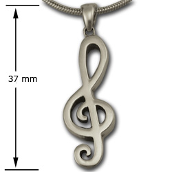 Treble Clef Pendant in Sterling Silver