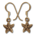 Starfish Earrings in 14k Gold