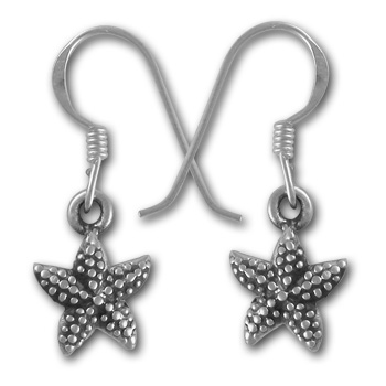 Starfish Earrings in Sterling Silver