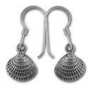Seashell Earrings in Sterling Silver