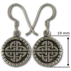 Celtic Knot Earrings in Sterling Silver