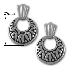 Designer Drop Earrings in Sterling Silver