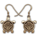 Celtic Turtle Earrings in Gold