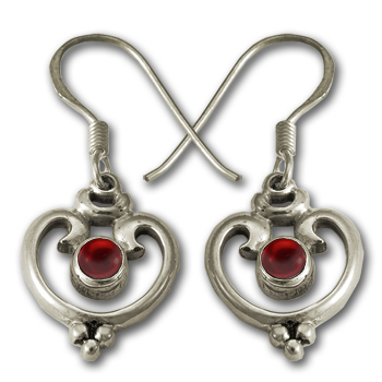 Victorian Heart Earrings in Sterling Silver