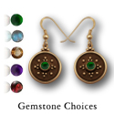 Balinese-Style Gemstone Earrings in 14k Gold