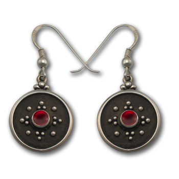Balinese-Style Gemstone Earrings in Sterling Silver