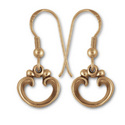 Victorian-Style Earrings in 14k Gold