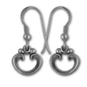Victorian-Style Earrings in Sterling Silver