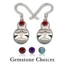 Ghana Mask Earrings in Sterling Silver
