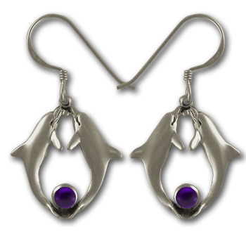 Delightful Dolphin Earrings in Sterling Silver