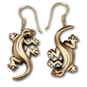 Gecko Earrings in 14k Gold
