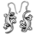 Gecko Earrings in Sterling Silver
