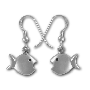 Fish Earrings in Sterling Silver