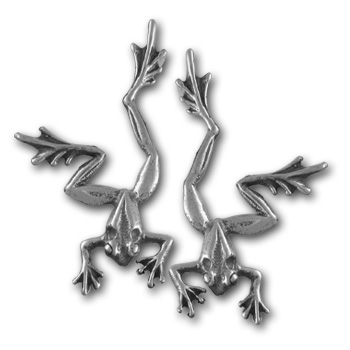 Tree Frog Earrings in Sterling Silver