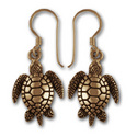 Turtle Earrings in 14k Gold