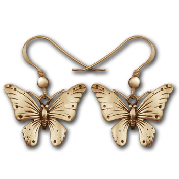 Butterfly Earrings in 14k Gold