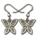 Celtic Butterfly Earrings in Sterling Silver