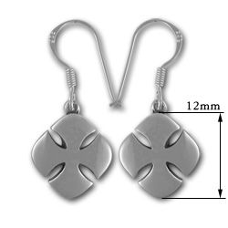 Crusaders Cross Earrings in Sterling Silver