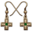 Cross Earrings in 14k Gold
