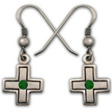 Cross Earrings in Sterling Silver