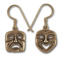 Comedy Tragedy Earrings in 14k Gold