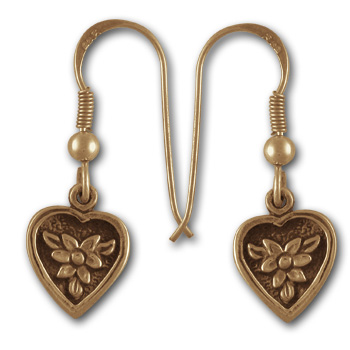 Delicate Flower Earrings in 14k Gold