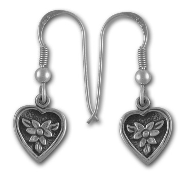 Delicate Flower Earrings in Sterling Silver