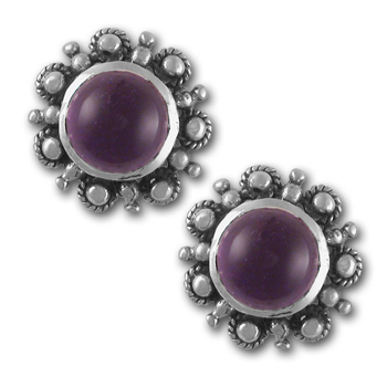 Delicate Gemstone Studs in Sterling Silver