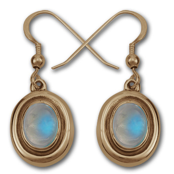 Moonstone Earrings in 14K Gold