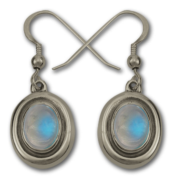 Moonstone Earrings in Sterling Silver