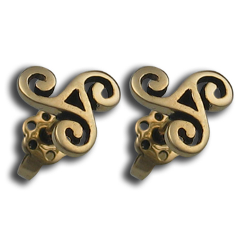 Triskele Earrings in 14K Gold
