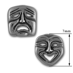 Comedy Tragedy Studs in Sterling Silver