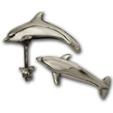 Dolphin Stud Earrings in Sterling Silver
