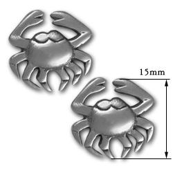 Crab Earrings in Sterling Silver