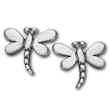 Dragonfly Stud Earrings in Sterling Silver