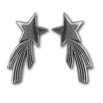 Shooting Star Earrings in Sterling Silver