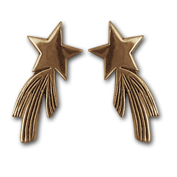 Shooting Star Earrings in 14k Gold
