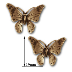 Butterfly Stud Earrings in 14k Gold