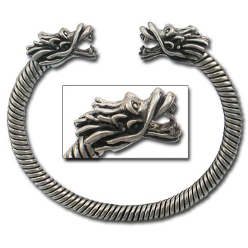 Large Dragon Bracelet in Sterling Silver