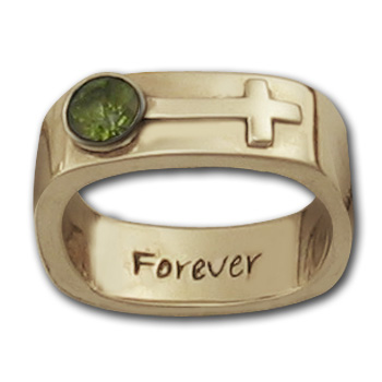 Female Insignia Ring in 14k Gold