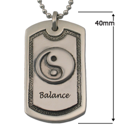"""Balance"" Dog Tag in .925 Sterling"