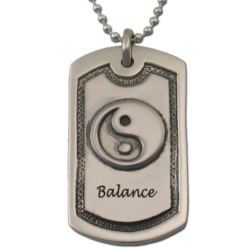 """Balance"" Dog Tag in Pewter"