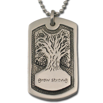 Tree of Life Dog Tag in .925 Sterling