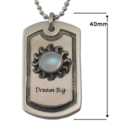 Male Insignia Dog Tag in .925 Sterling