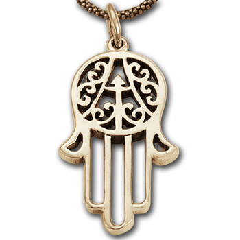 Hand of Fatima Pendant in 14k Gold