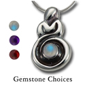 Goddess Pendant in Sterling Silver